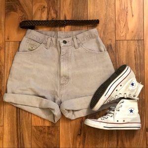 Lavender Wrangler High Waisted Shorts